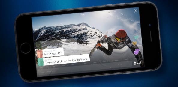 Periscope integra video con Go Pro