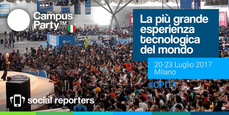 Social Reporters Media Partner del primo Campus Party in Italia